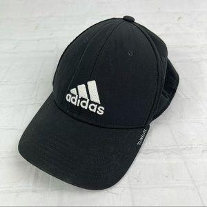 Adidas black and white climalite baseball hat